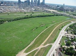 Aerial-View of Dallas Levee System