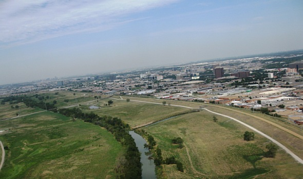 Aerial view of Stemmons Bus District