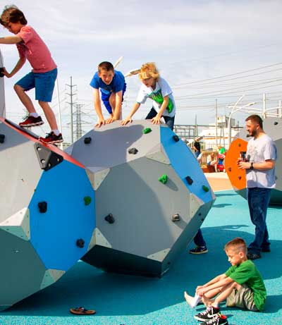 Children had a chance to experience the fun of the playground on May 17 during the Trinity River Wind Festival and the Girl Scout Council Bridging Ceremony.
