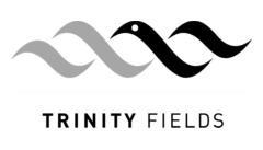 Black & White Trinity Fields Logo